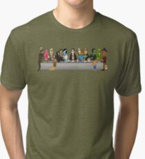 Monsters Last Supper  Tri-blend T-Shirt