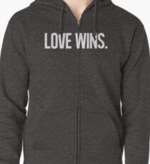 LOVE WINS. Zipped Hoodie