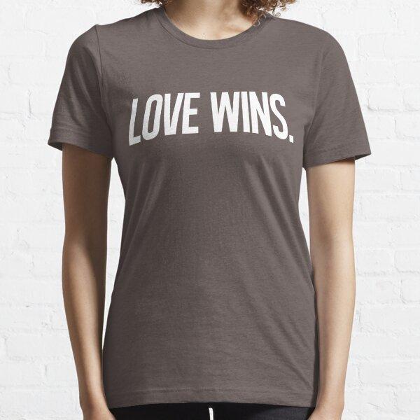 LOVE WINS. Essential T-Shirt
