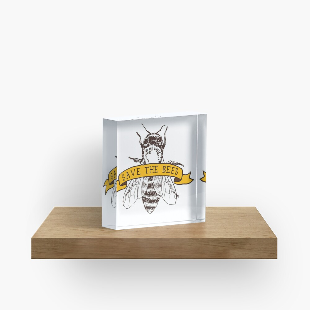 Save The Bees! Acrylic Block