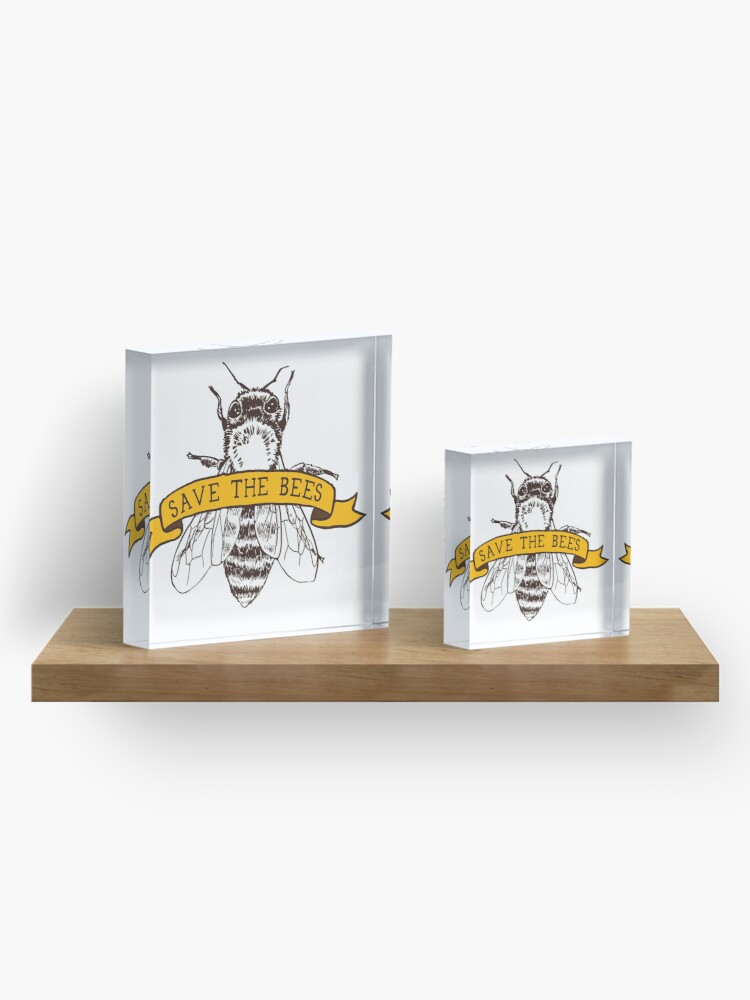 Alternate view of Save The Bees! Acrylic Block
