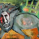Lion, Skewed by Jen Jovan