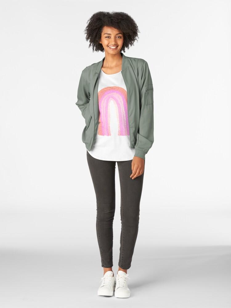 Alternative Ansicht von Regenbogen rosa pattern Premium Rundhals-Shirt
