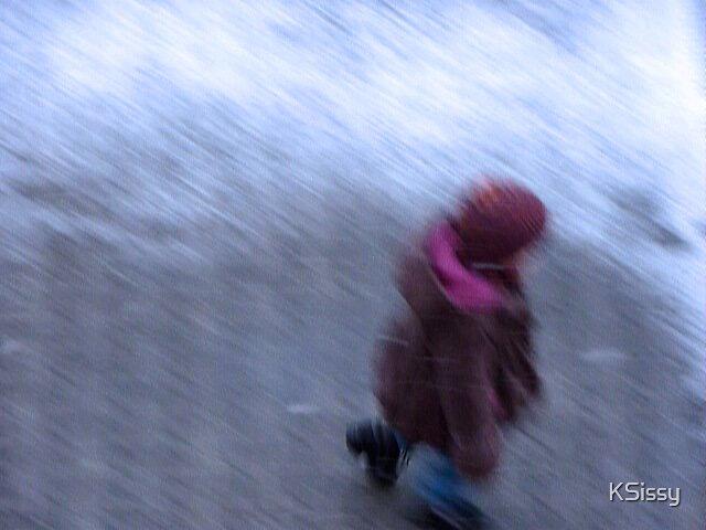 Walking through fresh falling snow by KSissy