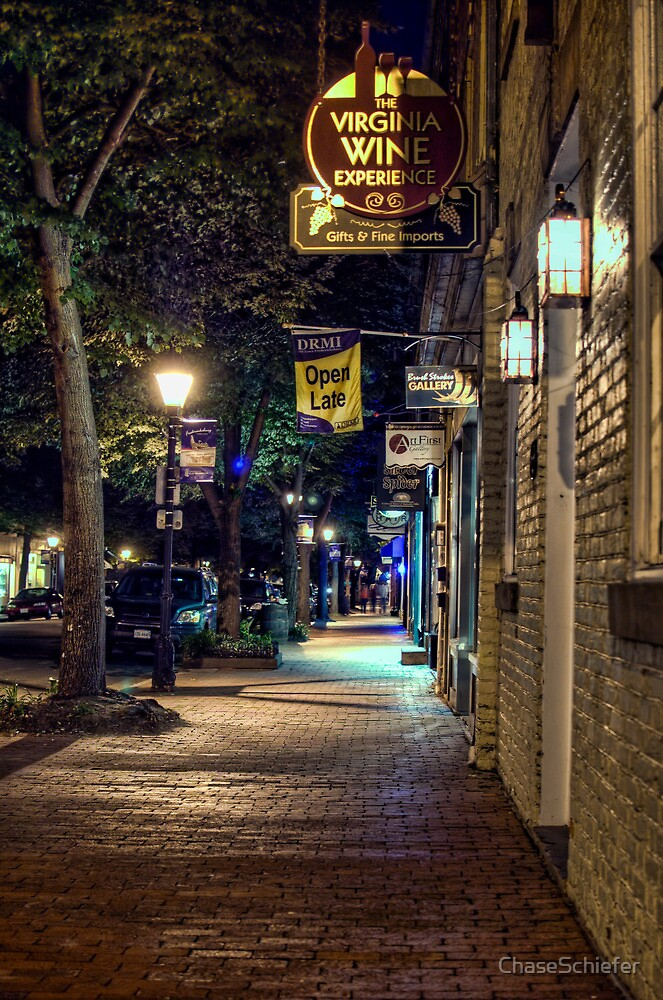 Downtown Fredericksburg at Night by ChaseSchiefer