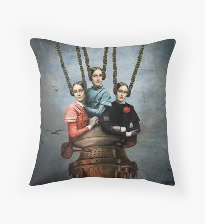 She knew she could fly Throw Pillow