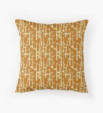 Beige Bamboo  Throw Pillow
