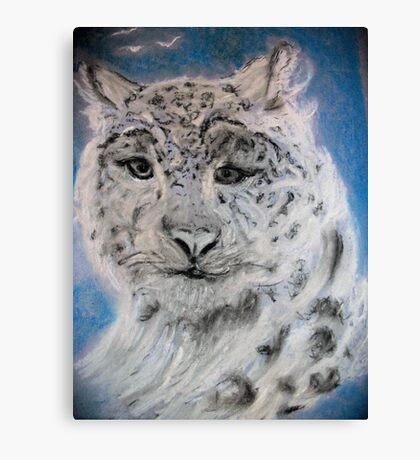 Portrait of a Snow Leopard Canvas Print