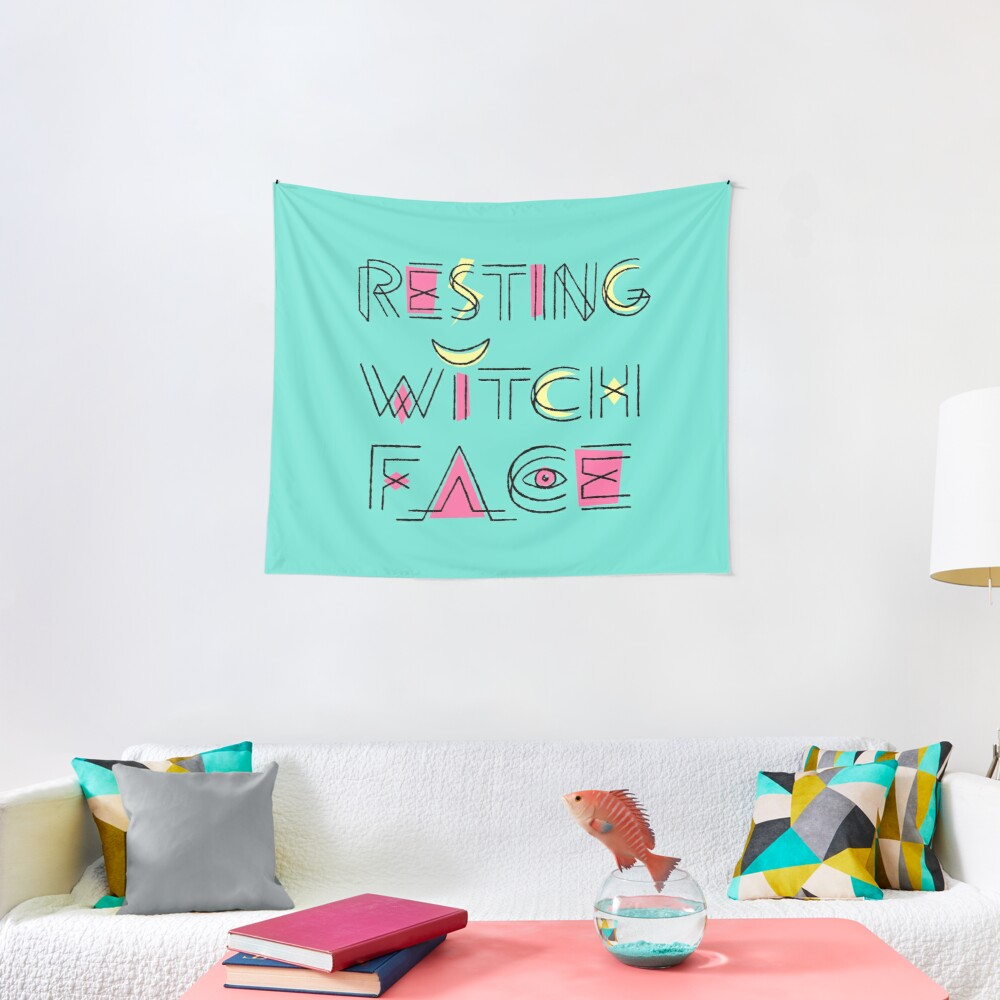 Resting Witch Face Tapestry