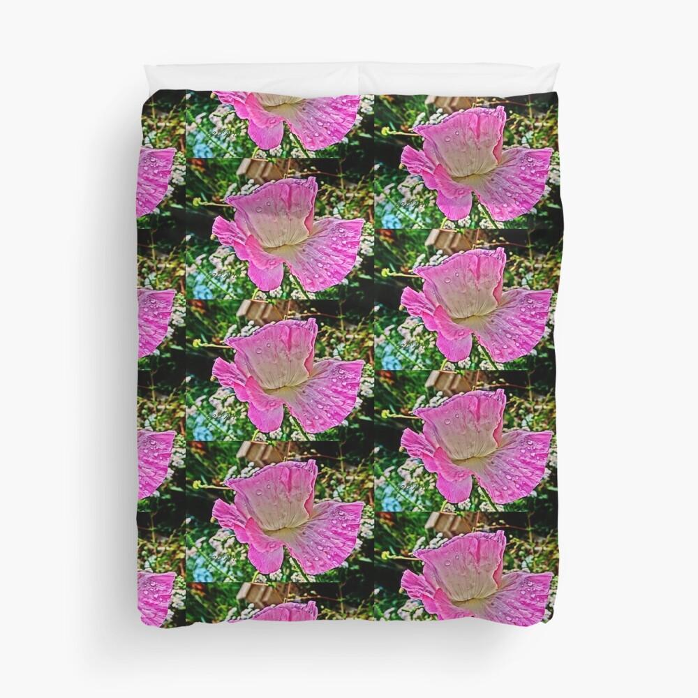Drippy Pink Poppy Duvet Cover