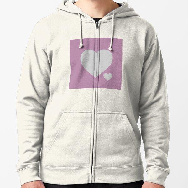 Silver Hearts Zipped Hoodie