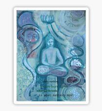Eithne Sweeney Art, buddha sitting tranquil Sticker