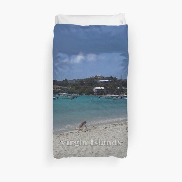 Virgin Islands Resort Beach Duvet Cover