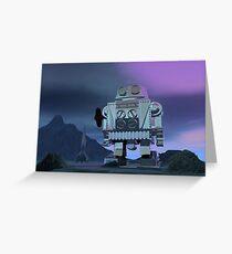 A Robot Moon Walker Greeting Card