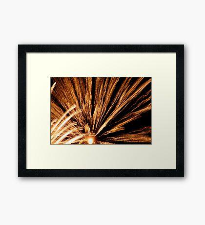 flowering gold Framed Print