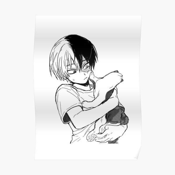 Todoroki avec son chat Poster