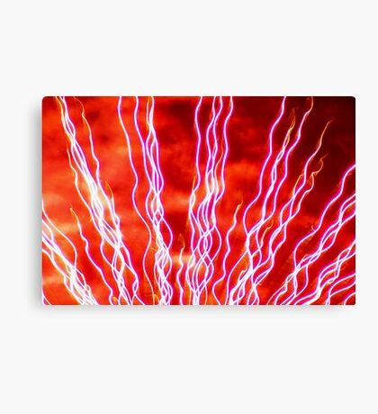 fireworks fan Canvas Print