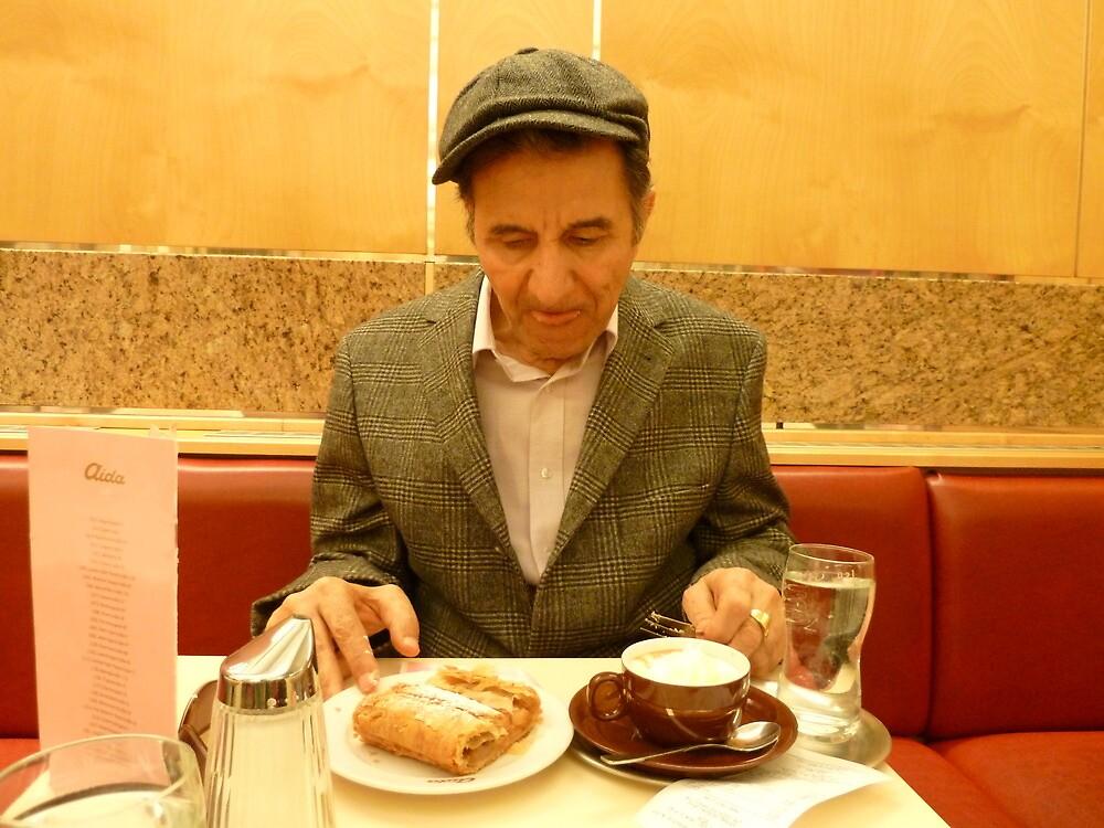 Tawfiq in Vienna cafe 3 by Fahar