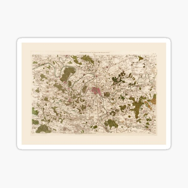 Carte de France (1756) Sticker