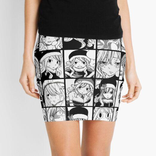 Juvia Lockser - Fairy tail Collage (Black&white version) Mini Skirt