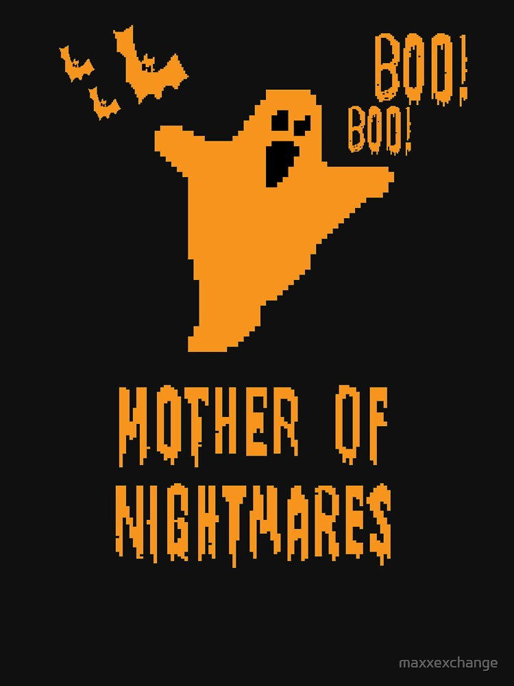 Mother of Nightmares Spooky Scary Pixel Ghost Bat. by maxxexchange