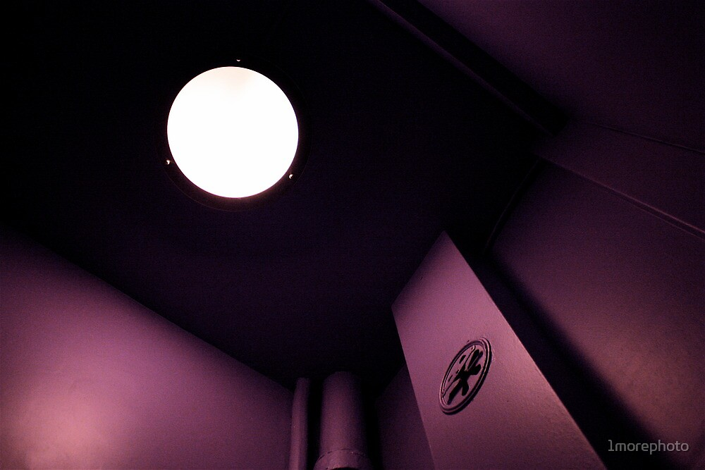 A Moon is watching Me in the Dance Center's Toilets... by 1morephoto