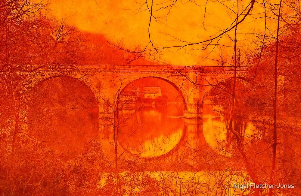 Prebends Bridge, Durham City, England by Nigel Fletcher-Jones