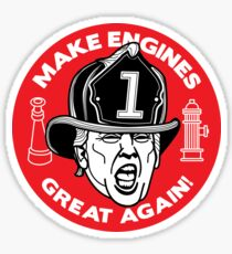 "Trump says ""MAKE ENGINES GREAT AGAIN!"" Sticker"
