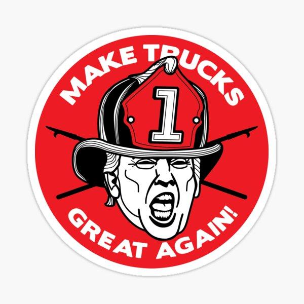 "Trump says ""MAKE TRUCKS GREAT AGAIN!"" Sticker"