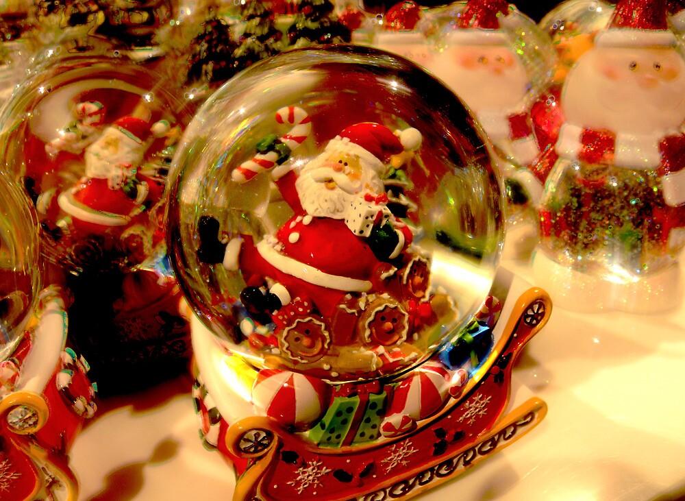 Santa Snow Globe by designerbecky