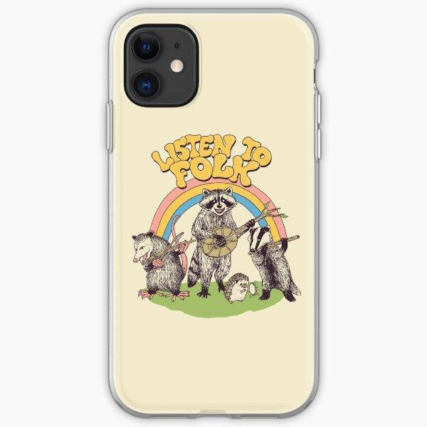 Listen To Folk iPhone Soft Case