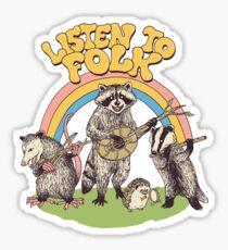 Listen To Folk Sticker