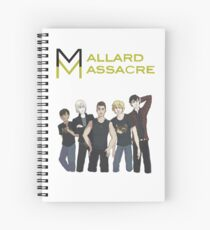 Mallard Massacre Band Merch Spiral Notebook