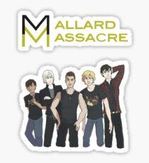 Mallard Massacre Band Merch Sticker