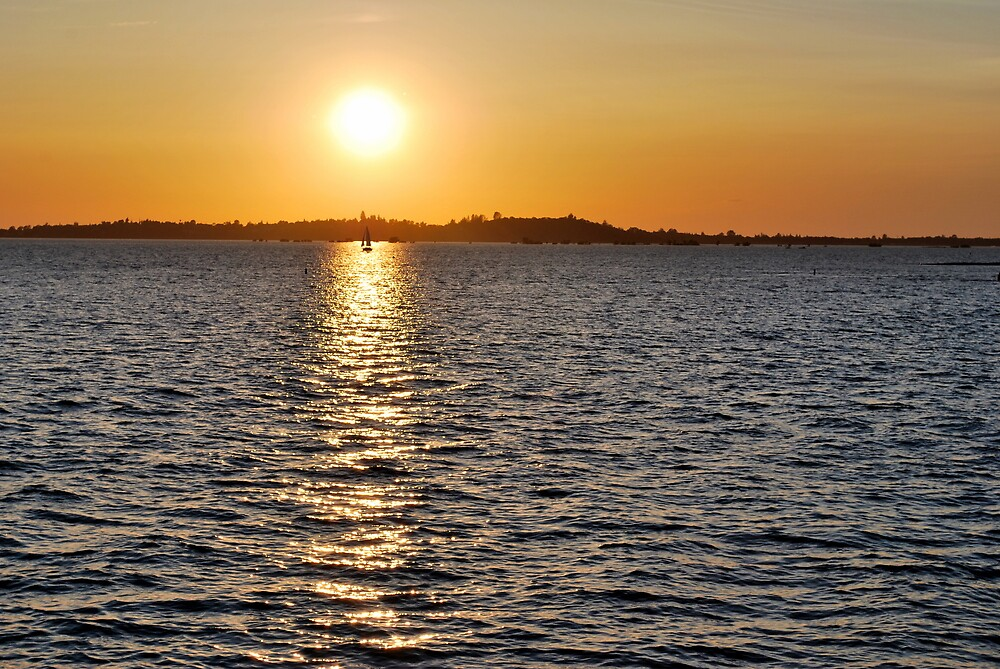 Folsom Lake Sunset by CDias
