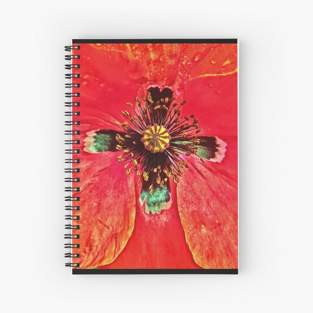 Star Crossed Poppy Spiral Notebook