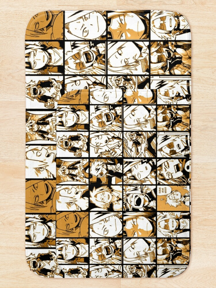 Alternative Ansicht von BNHA Kaminari Denki Collage Badematte