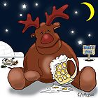 Rudolph Chills Out by Kev Moore