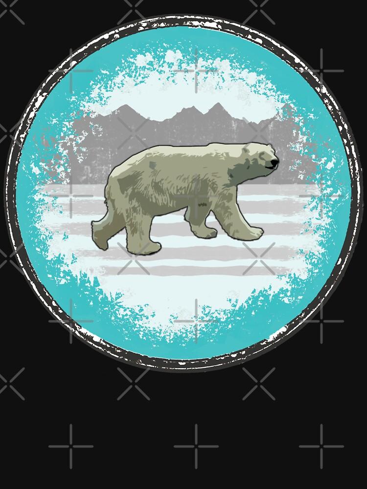Eisbär Popart von Periartwork
