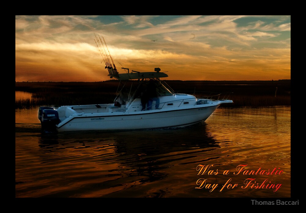 Fantastic Day for Fishing Card by TJ Baccari Photography