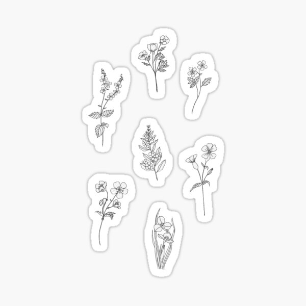 Mini Flower Botanical Sticker