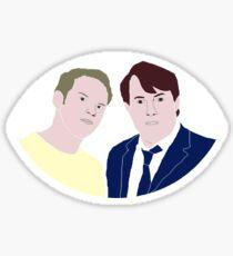 Peep Show - Mark and Jez Sticker