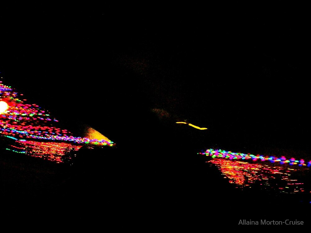 Christmas Lights From The Road by Allaina Morton-Cruise