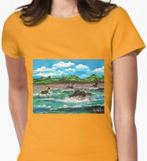 Wild (Sea) Horses...... Womens Fitted T-Shirt