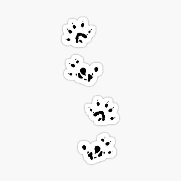 Sugar Glider Paw Prints- Black Sticker