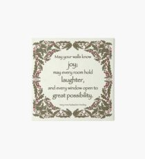Holiday Wishes Art Board Print