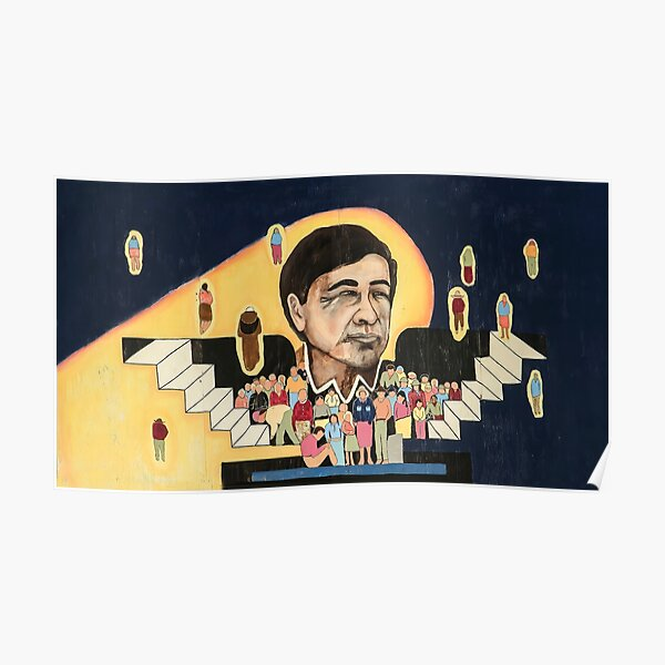 Cesar Chavez at School  Poster