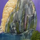 Mountain Waterfall almost in an Oval by towncrier