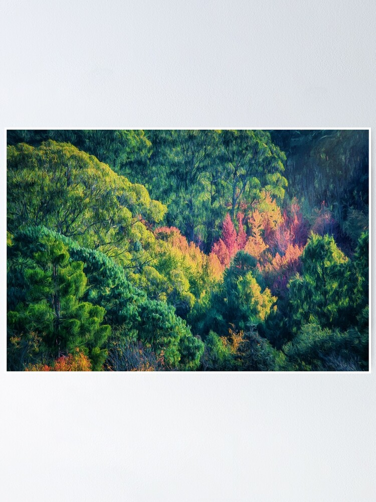 Alternate view of Autumn in the Hills   (digital painting) Poster