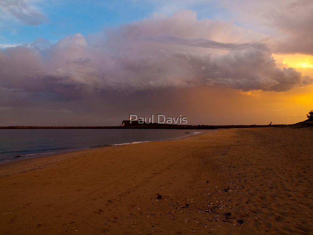 Sunset at Stockton - Newcastle - New South Wales by Paul Davis
